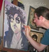 Painting a portrait of prince 2014