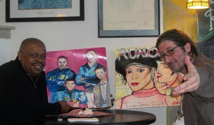Marcus Thompson Timex Social Club, Chris Fabbri painting