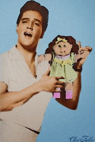 Elvis and cabbage patch doll