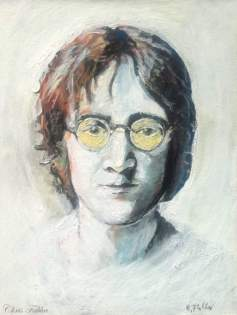 "2017 John Lennon, acrylic on canvas 20""x16"""
