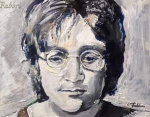 "2017 John Lennon, acrylic on cardboard 8""x10"""