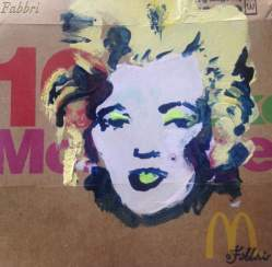 "2017 Marilyn Monroe, acrylic on cardboard 5""x5"""