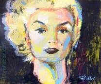 "2017 Marilyn Monroe, acrylic on cardboard 9""x10"""