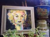 """2017 Marilyn Monroe, acrylic on cardboard 9""""x10"""""""