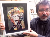 Madonna, portrait painted by Chris Fabbri