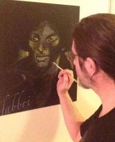 Prince, acrylic on wood Chris Fabbri art studio