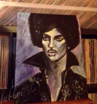 Prince, acrylic on wood Chris Fabbri art studio