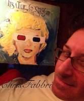 2016 Marilyn's true story in 3-D, acrylic on cardboard 12 1/2″x12 1/2″
