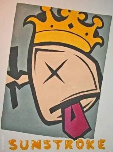 """2010 Sunstroke, acrylic on canvas 24""""x12"""" •"""