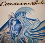 "2009 Conscious Souls, acrylic on wood 12""x12"" •"