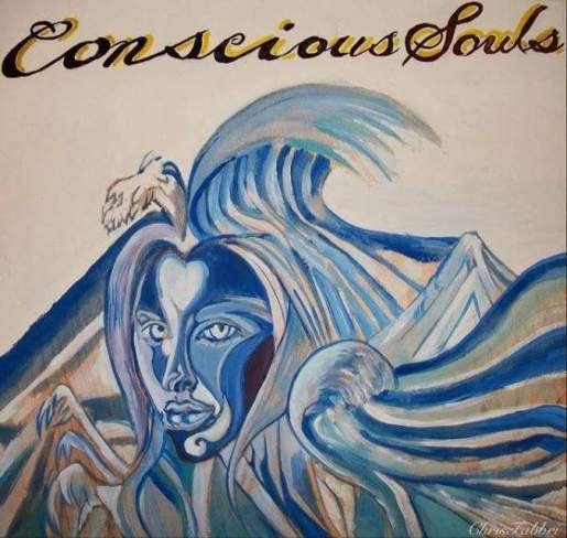 "2009 Conscious Souls, acrylic on wood 12""x12"" •"