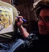 "2017 Marilyn, ink and acrylic on paper 11""x8 1/2"" www.chrisfabbri.com"