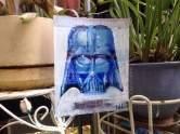 """2017 Darth Vader, ink and acrylic on cardboard 8""""x6 1/2"""" www.chrisfabbri.com"""