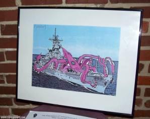 Squid eating battleship