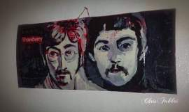 John and Paul - Sold works painted by Chris Fabbri