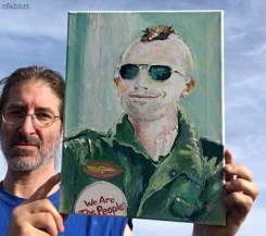 "2018 Robert DeNiro as Travis Bickle, oil and acrylic on canvas 14""x11"" • ChrisFabbri.com"