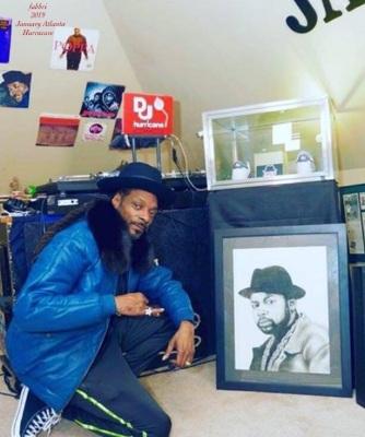Snoop Dogg in Hurracave ATL GA upper left portrait of JMJ by Chris