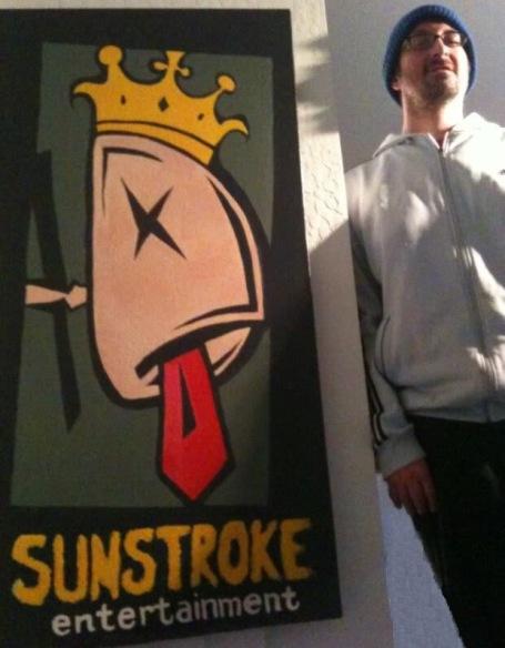 """2009 Sunstroke, acrylic on canvas 36""""x12"""" •"""