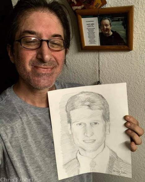 """drawn in 1987 at age 14, my brother Buddy, pencil on paper 14""""x11"""" • ChrisFabbri.com"""