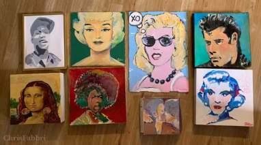 Chris Fabbri paintings Studio 3/20