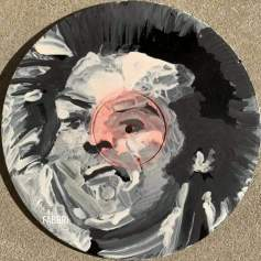 "2020 Sid Vicious, acrylic on 10"" vinyl"