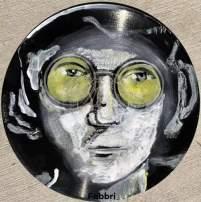 """2020 John Lennon, acrylic on 10"""" vinyl"""